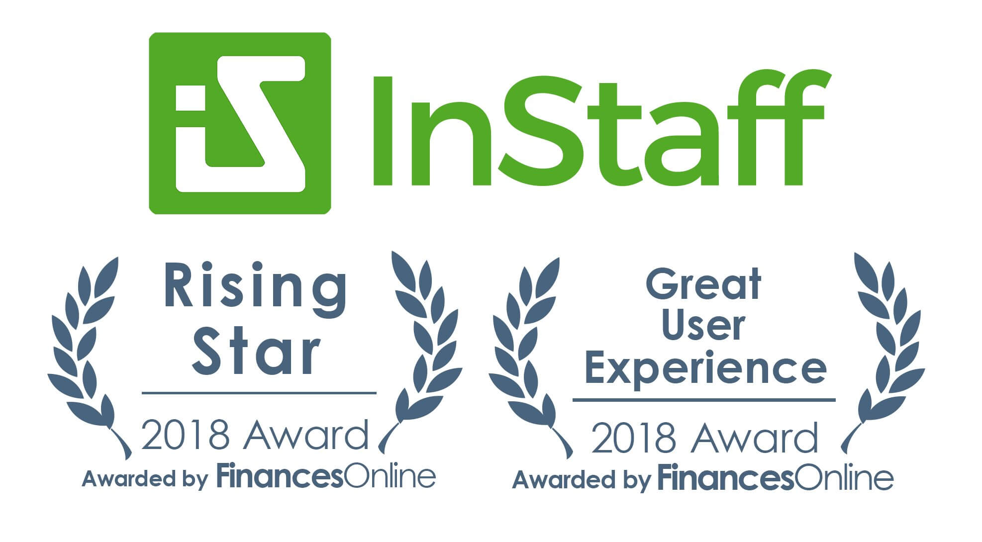 InStaff receives Rising Star and Great User Experience awards from FinancesOnline